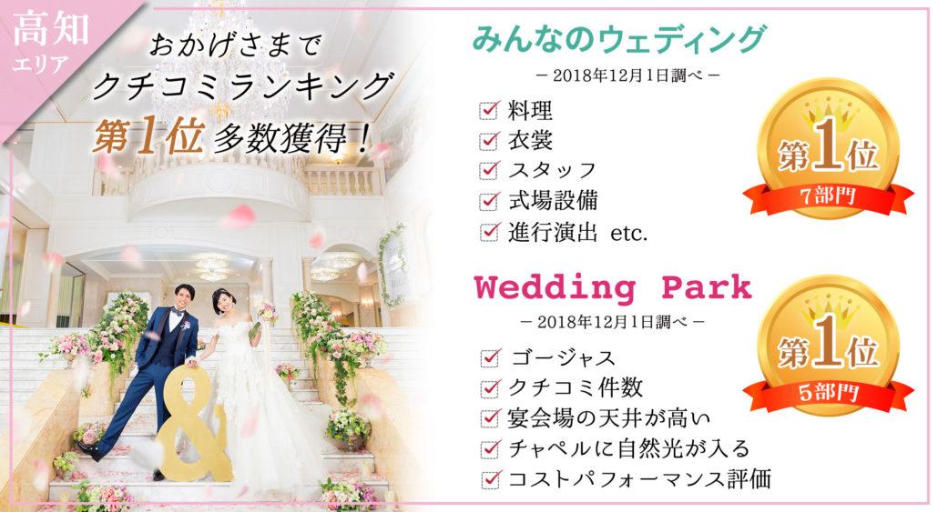 クチコミランキング|高知県高知市の結婚式場ベイシャトー