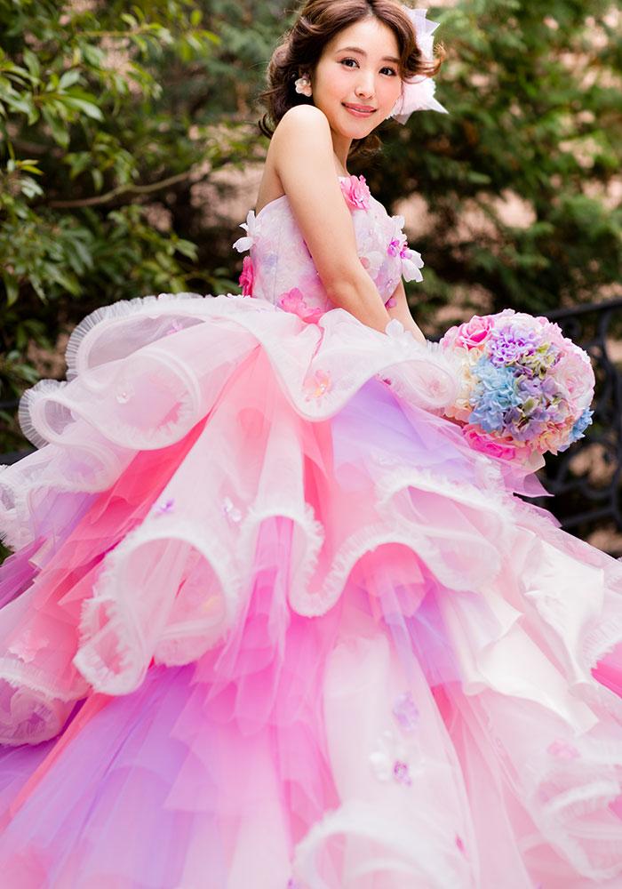 カクテルドレス カラードレス 高知の結婚式場 ドリーマーベイシャトー