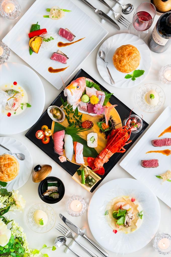 自慢の料理、皿鉢懐石コース
